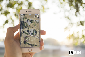 InBin Mobile App with Pin your Location