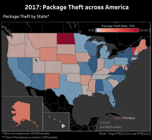 Package Theft across America